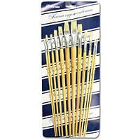 Набор кисточек «Josef Otten» 579 Щетина плоская 12 шт. длинная ручка