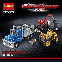 """Конструктор Decool 3365 (аналог Lego Technic 42023) """"Строительная команда"""" 834 дет"""