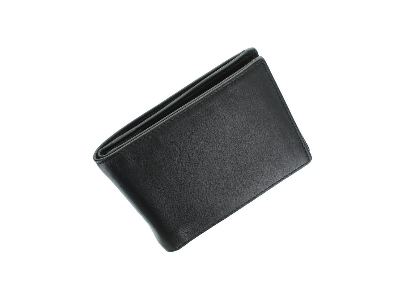 Тонкий мужской кошелек Visconti VSL20 Black\Blue (Великобритания)