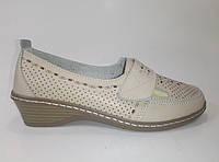 Женские кожаные летние туфли ТМ Allshoes, фото 1