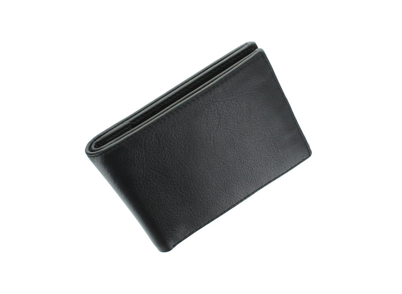 Тонкий мужской кошелек Visconti VSL20 Black\Red (Великобритания)