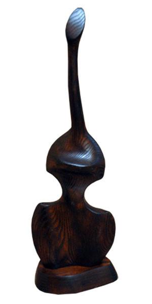 """Деревянная статуэтка """"Девушка-скрипка"""""""