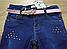 Джинсовые брюки на флисе для девочек, Венгрия, Seagull, 140,164 рр. арт. CSQ-89896 ,, фото 3