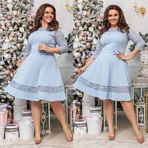 Платье БАТАЛ гипюр  68035, фото 3