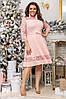Платье БАТАЛ гипюр  68035, фото 6