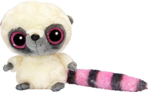 YooHoo Мягкая игрушка лемур розовый блестящие глазки 23 см AURORA
