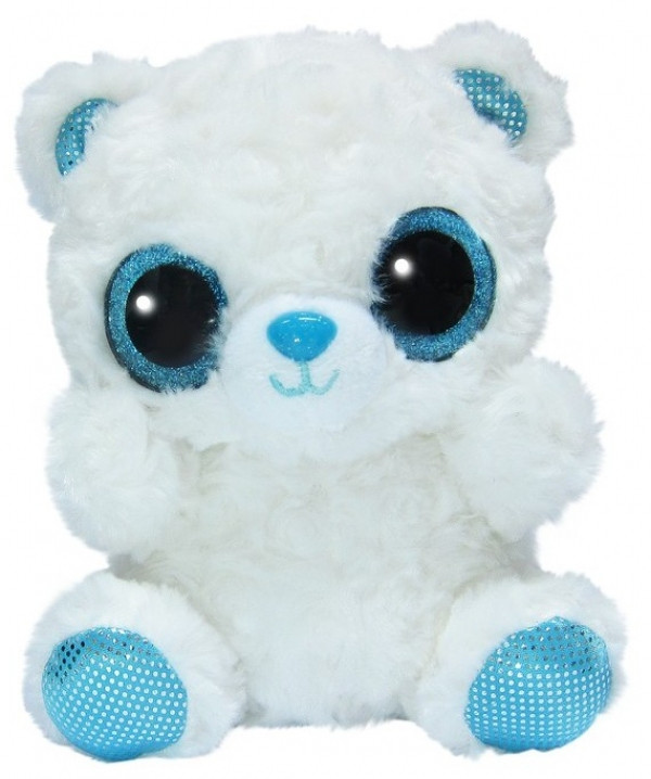 YooHoo Мягкая игрушка полярный медведь блестящие глазки 20 см AURORA