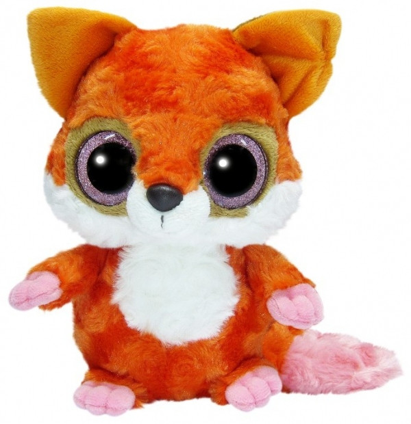 YooHoo Мягкая игрушка лисица красная блестящие глазки 23 см AURORA