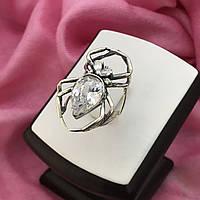 Серебряное кольцо Паук.