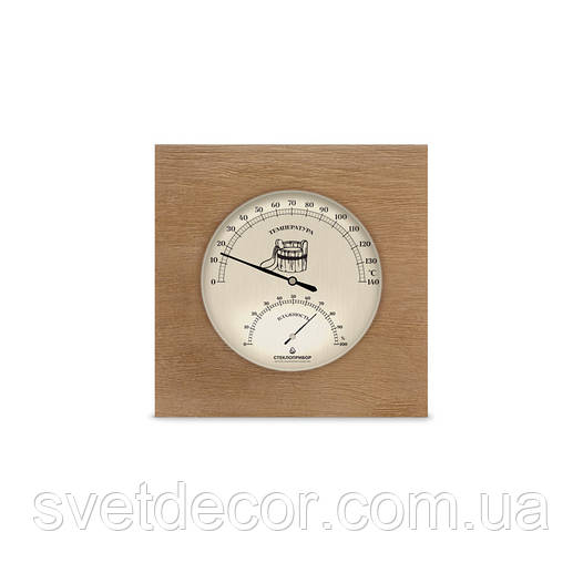 Термометр гигрометр для сауны ТГС исп.6  Вишня