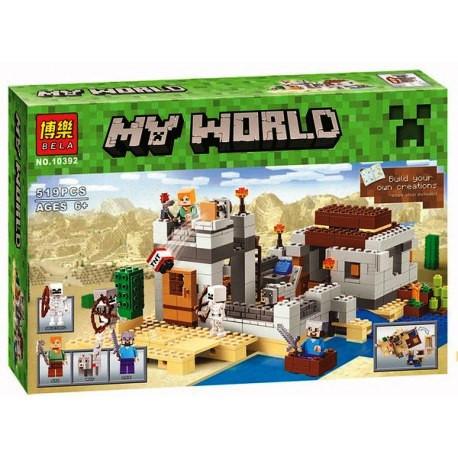 Конструктор Bela 10392 Minecraft Майнкрафт Пустынная станция 519 деталей