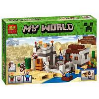 Конструктор Bela 10392 Minecraft Майнкрафт Пустынная станция 519 деталей, фото 1