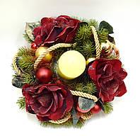 Декор новогодний со свечой, фото 1