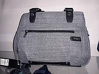 Женская сумка Dolly 479 на три отделения с карманами под формат А4 цвет Серый
