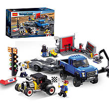 "Конструктор Decool 78116 (аналог Lego Speed Champions 75875) ""Форд F-150 Raptor и Форд Model A Hot R"" 674 дет"