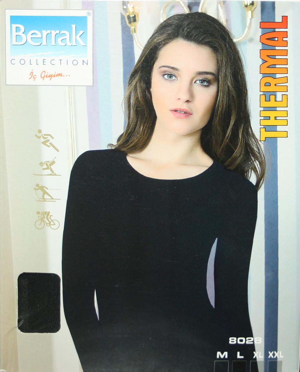 Жіноча термокофта чорного кольору Berrak 8028