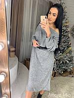 Стильное женское платье (ангора арктика, свободный крой, длинные рукава) РАЗНЫЕ ЦВЕТА!, фото 1
