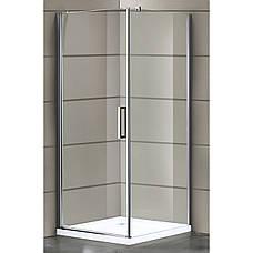 RUDAS душевая кабина 90*90*205 см, поддон (PUF) 5 см (с сифоном), распашная, стекло прозрачное, левая, фото 2