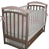 Детская кроватка Верес Соня ЛД 6 маятник+ящик (капучино-розовый)