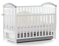 Детская кроватка Верес Соня ЛД 6 маятник+ящик (бело-серый)