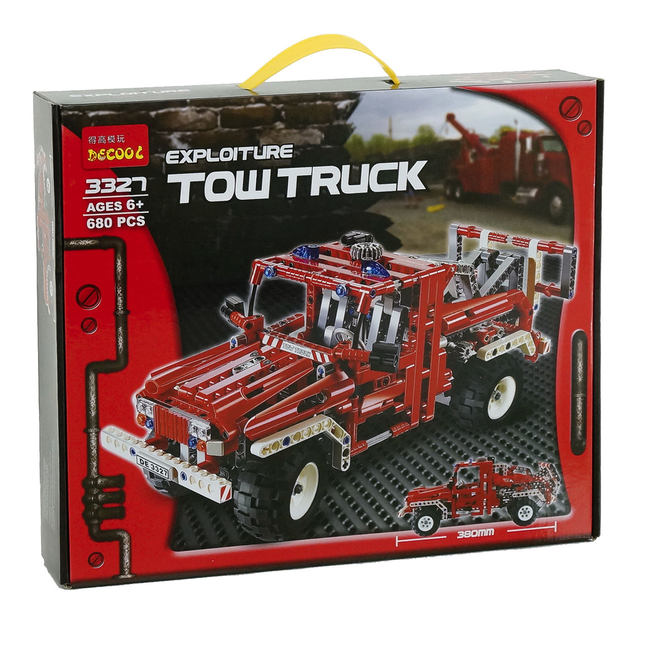 """Конструктор Decool 3327 """"Tow Truck"""" 680 дет"""