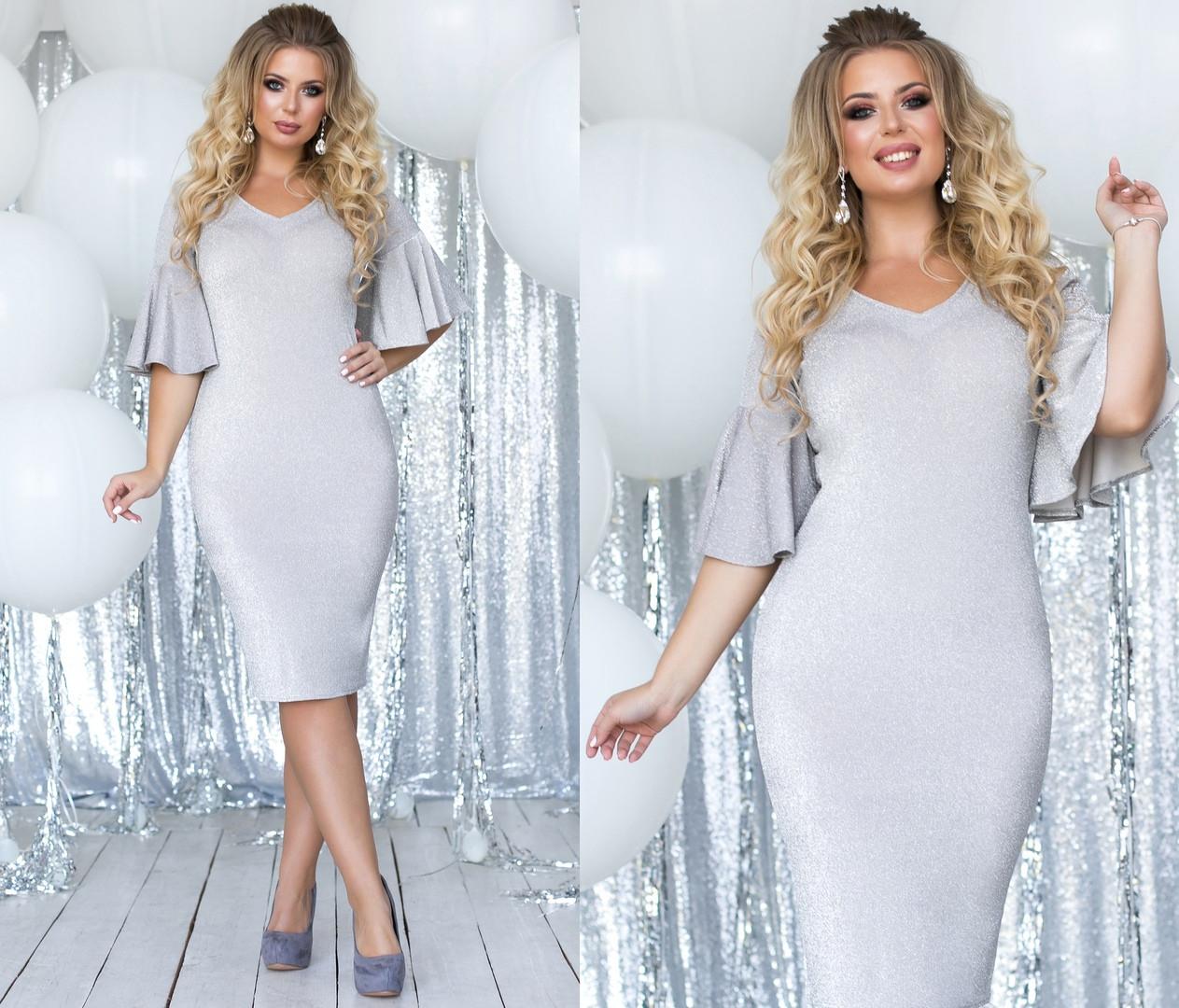 Платье миди БАТАЛ  в расцветках 701128