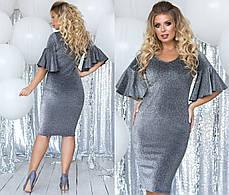 Платье миди БАТАЛ  в расцветках 701128, фото 2
