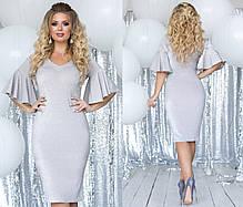 Платье миди БАТАЛ  в расцветках 701128, фото 3