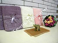 Махровые полотенца с рюшей 50*100