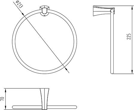 CUTHNA stribro полотенцедержатель (кольцо), фото 2