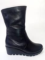Женские кожаные зимние полусапожки ТМ Камея, фото 1