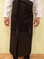 Поварской фартук черный. Ткань: саржа.