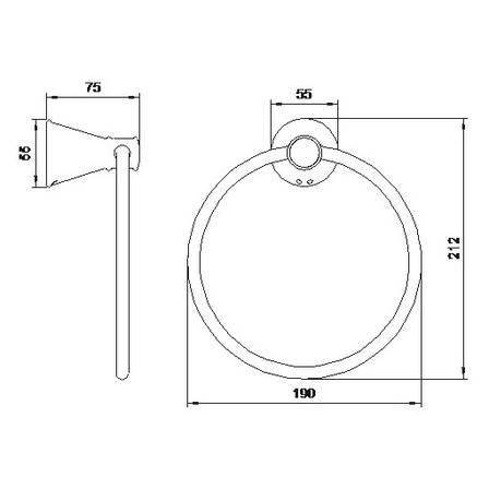 PODZIMA LEDOVE полотенцедержатель (кольцо), фото 2