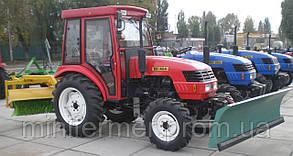 Трактор DONGFENG DF-404 (каб) с отвалом и щеткой