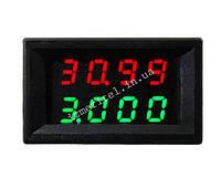 Цифровой вольтметр амперметр DC 0-33V 3A, фото 1