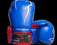 Боксерские перчатки Powerplay 3018 сине-красные, фото 1