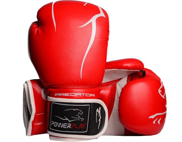 Боксерские перчатки Powerplay 3018 красные, фото 1