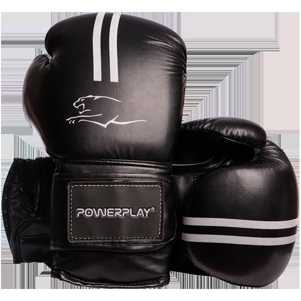 Боксерские перчатки Powerplay 3016 черные , фото 1