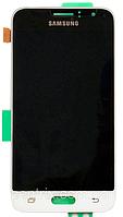 Дисплей (экран) для Samsung J120H Galaxy J1 (2016) + тачскрин, белый, оригинал