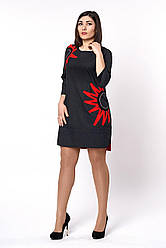 Молодежное женское оригинальное платье свободного кроя, 50