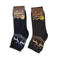 Носки женские новогодние SANBELLA с оленями микс (36-40 р.) 12 пар в упаковке
