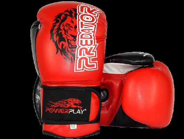Боксерские перчатки Powerplay 3006 Tiger красные, фото 1