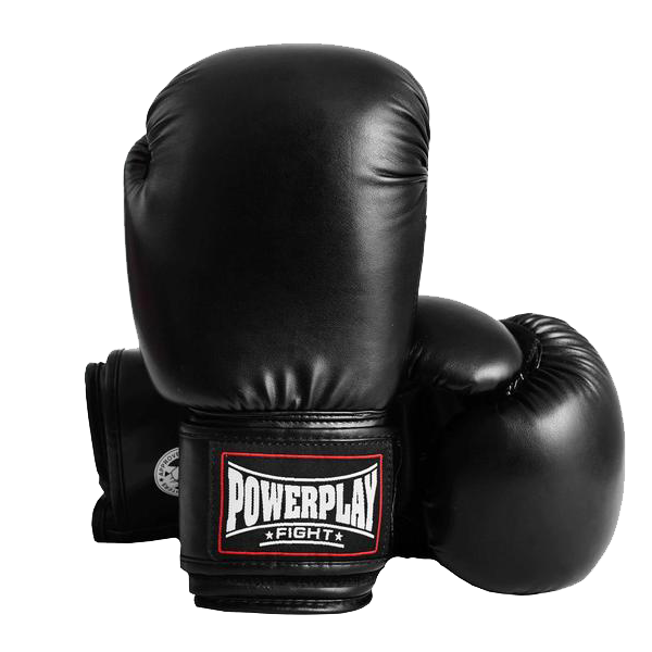 Боксерские перчатки Powerplay 3004 черные, фото 1
