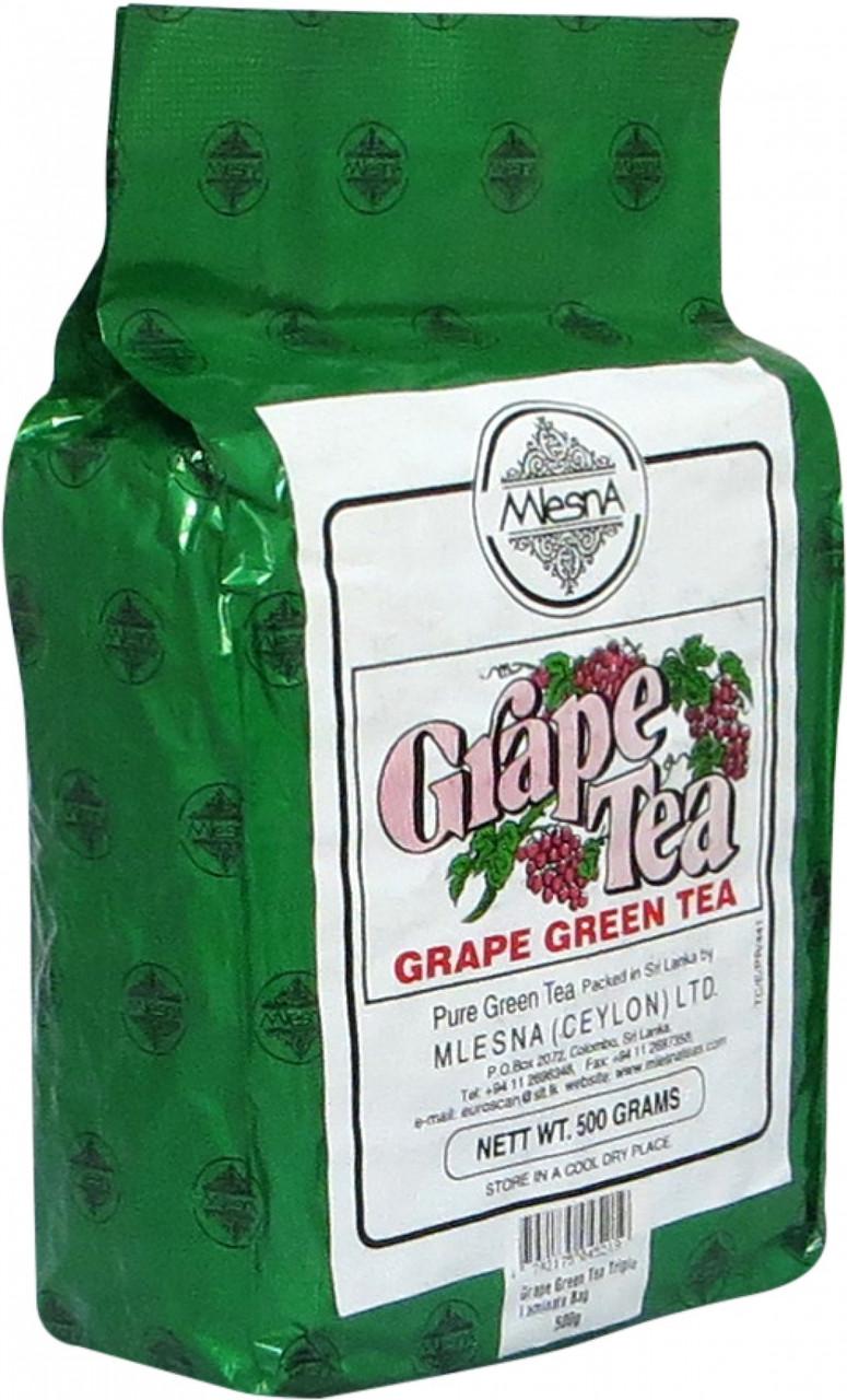Зелёный чай Виноград, GRAPE GREEN TEA, Млесна (Mlesna) 500г.