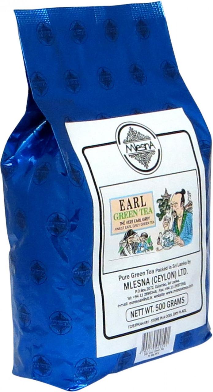 Зелёный чай Эрл Грей (бергамот), EARL GREY GREEN TEA, Млесна (Mlesna) 500г.
