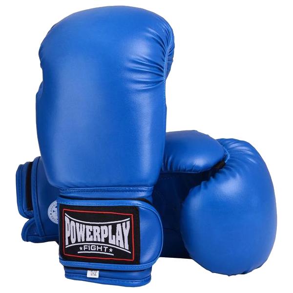 Боксерские перчатки Powerplay 3004 синие, фото 1