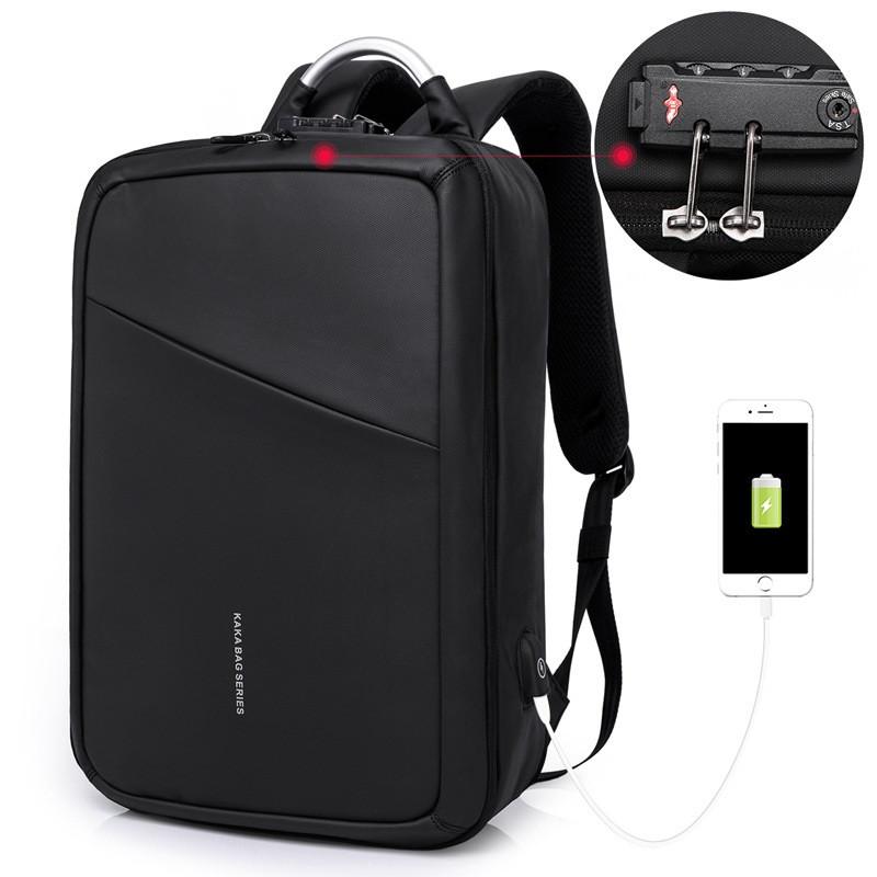 Деловой бизнес-рюкзак для ноутбука и планшета Kaka 807 с кодовым замком, 23л
