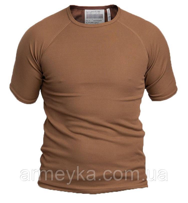 Армейская потоотводящая термофутболка, коричневая. ВС Голландии, оригинал.