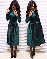 Вечернее платье из мраморного бархата