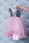 Нарядное платье для девочки с пайетками Розовое, фото 2